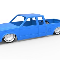 1.jpg Download STL file Diecast shell and wheels Chevrolet S10 Extended Cab 1990 Scale 1 to 25 • 3D printable template, CosplayItemsRock