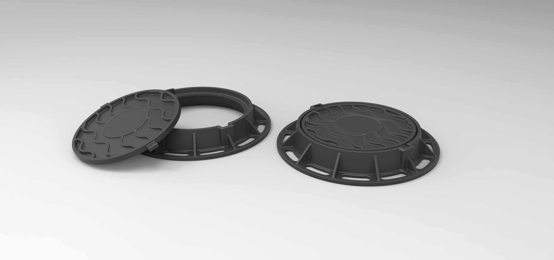 1.jpg Download free STL file Diecast model Street manhole Scale 1:10 • 3D printable template, 3DTechDesign