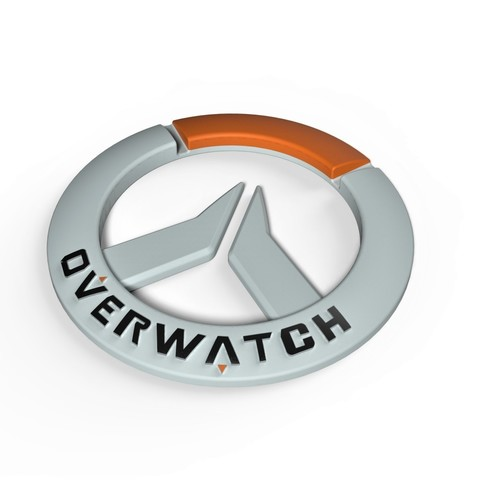 3D printer files Overwatch logo, DmK