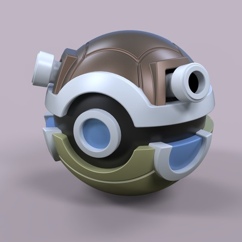 STL files Pokeball Blastoise, DmK