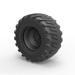 1.jpg Download STL file Diecast Rear wheel from Pulling tractor 2 • Model to 3D print, 3DTechDesign