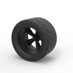 Download 3D printing templates Diecast Rear sport wheel, DmK