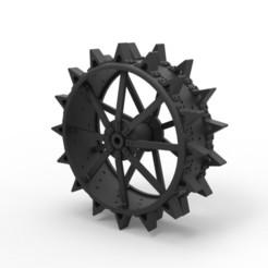 Modelos 3D Diecast Rueda trasera de un tractor viejo, DmK