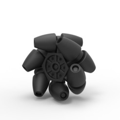 Download 3D print files Diecast Mecanum wheel, DmK