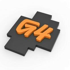 1.jpg Télécharger fichier STL Logo de la chaîne de télévision américaine G4 imprimable en 3D • Objet pour impression 3D, CosplayItemsRock