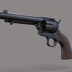 Download STL file Revolver Colt Single Action, 3DTechDesign