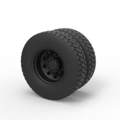 Descargar archivos 3D Diecast Rueda trasera del camión, 3DTechDesign