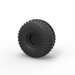 Impresiones 3D Diecast Offroad rueda 17, DmK