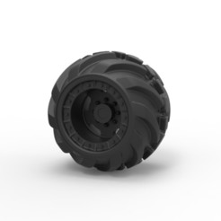 Download 3D printing templates Diecast Offroad wheel 16, 3DTechDesign