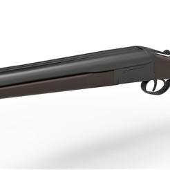 Descargar archivo STL Escopeta Remington de doble cañón • Modelo imprimible en 3D, 3DTechDesign