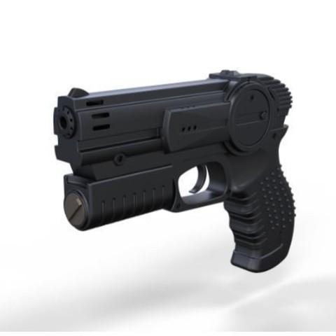 Descargar diseños 3D Pistola de la película I robot 2004, DmK