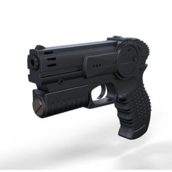 Download 3D print files Pistol from movie I robot 2004, 3DTechDesign