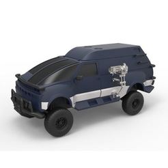 STL files Diecast model RV from Hell from the movie Tango and Cash Scale 1:24, DmK