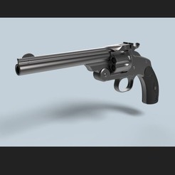 Fichier imprimante 3D Smith & Wesson Modèle 3 Revolver à simple action, DmK