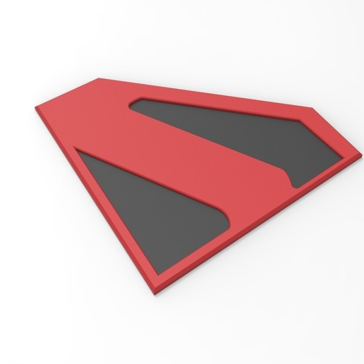 picture regarding Superman Logo Printable identified as 3D printable Kingdom Occur Superman symbol for cosplay dress