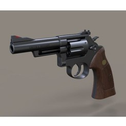 Download 3D printer designs Revolver Smith & Wesson Model 19 1989, 3DTechDesign
