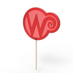 1.jpg Download STL file Wonka lollipop from the movie Charlie and the Chocolate Factory 2005 • 3D printable template, CosplayItemsRock
