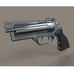 Download 3D model Revolver from movie Rest In Peace Department, 3DTechDesign