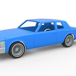 Download 3D printer designs Diecast shell and wheels Cadillac Seville 1979 coupe Scale 1:25, 3DTechDesign