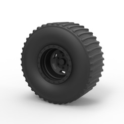 3D printer models Diecast Rear wheel from Dirt dragster, DmK