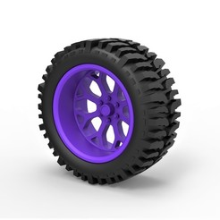 Descargar diseños 3D Rueda Diecast offroad para carretillas elevadoras, 3DTechDesign