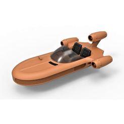 Descargar modelos 3D Diecast modelo de Landspeeder X-34 de la película Star Wars Escala 1:24, 3DTechDesign