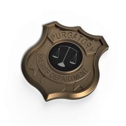 Descargar archivo 3D Insignia imprimible en 3D Departamento del Sheriff del Purgatorio, DmK