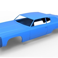 Download STL file Diecast shell Chevrolet Impala 1972 Scale 1:20, 3DTechDesign