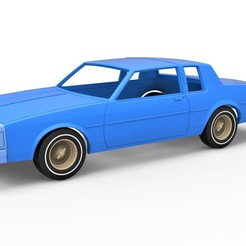 1.jpg Download STL file Diecast shell and wheels Oldsmobile Delta 88 1984 Scale 1 to 25 • 3D printer model, CosplayItemsRock