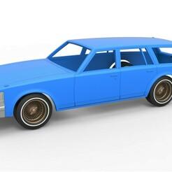 1.jpg Télécharger fichier STL Carrosserie et roues moulées sous pression Cadillac Seville 1979 wagon Échelle 1 à 25 • Modèle imprimable en 3D, CosplayItemsRock