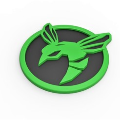 Download STL 3D printable Green Hornet emblem, DmK