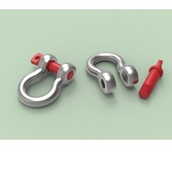 Download free STL files Anchor shackle G-209, 3DTechDesign