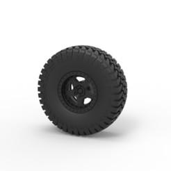 3D print files Diecast Wheel of Trophy truck, DmK