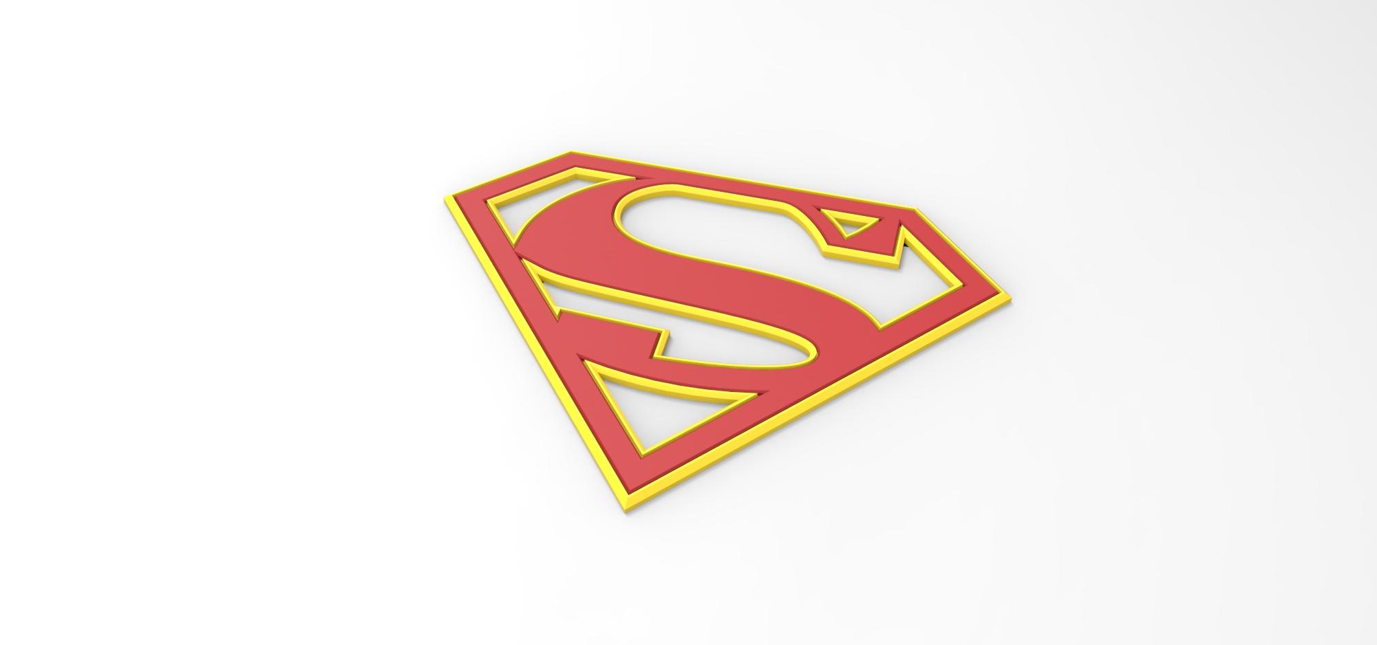 graphic relating to Supergirl Logo Printable named 3D printable Supergirl logo for cosplay dress