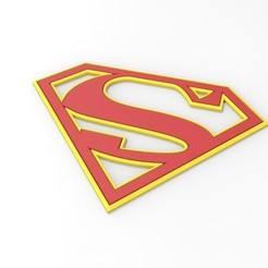 Download 3D printer designs 3D printable Supergirl emblem for cosplay costume, 3DTechDesign