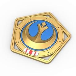 1.jpg Télécharger fichier STL Médaille de la République de la série télévisée The Mandalorian • Design imprimable en 3D, CosplayItemsRock