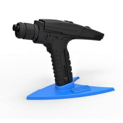Download 3D print files Stand for the Phaser pistol from Star Trek Discovery, 3DTechDesign