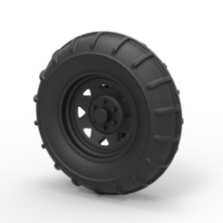Download 3D printer model Diecast Front wheel from Dirt dragster, DmK