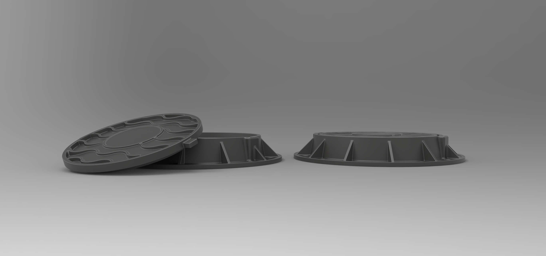 5.jpg Download free STL file Diecast model Street manhole Scale 1:10 • 3D printable template, 3DTechDesign