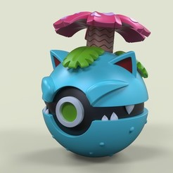 3D printing model Pokeball Venusaur, DmK