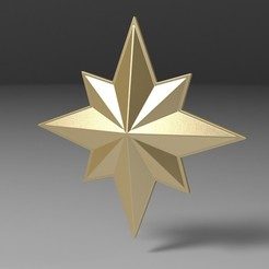 Download 3D printer designs Captain Marvel emblem, 3DTechDesign