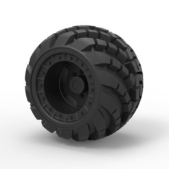 Download 3D printer files Diecast Arched offroad wheel, 3DTechDesign