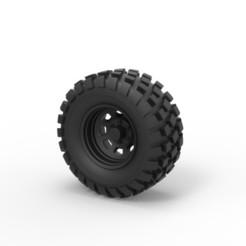Descargar archivos STL Diecast Offroad rueda 25, 3DTechDesign