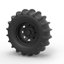 3D print model Diecast Rear wheel for Dune Buggy, DmK