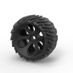 Modelos 3D Diecast Offroad rueda 1, DmK