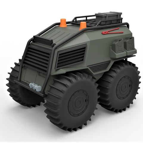 Modelos 3D Modelo diecast SHERP Ultimate survival machine for zombie apocalypses Escala 1:24, DmK