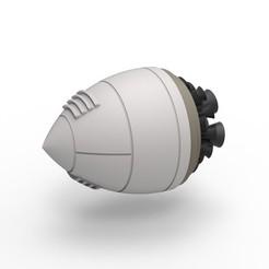 Télécharger fichier impression 3D Moteur fusée Fantasy moulé sous pression, DmK