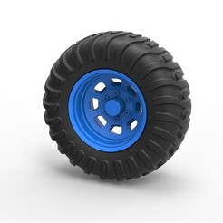 1.jpg Download STL file Diecast Offroad wheel 36 • 3D print model, 3DTechDesign