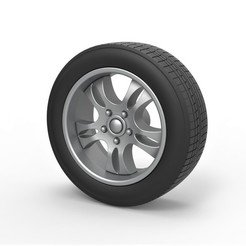 1.jpg Download STL file Diecast Car wheel 5 Scale 1 to 10 • 3D print template, CosplayItemsRock