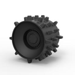 Descargar modelos 3D Rueda de compactador Diecast, 3DTechDesign